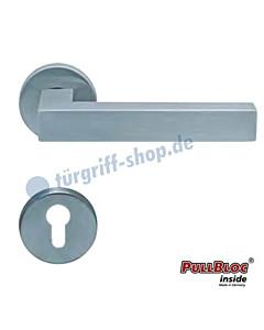 1002 (Quadra II) Halbgarnitur PZ PullBloc Edelstahl matt o. poliert Scoop