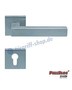 1002 (Quadra II) Halbgarnitur Quadratrosette PZ PullBloc Edelstahl matt von Scoop