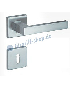 Köln Quadrat-Rosettengarnitur Edelstahl matt Lienbacher