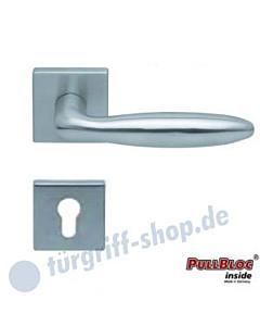 1083 (Sara) Halbgarnitur Quadratrosette PZ PullBloc Edelstahl matt oder poliert Scoop