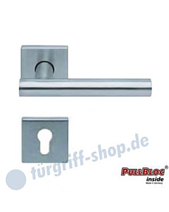 1074 (Roxy) Halbgarnitur Quadratrosette PZ PullBloc Edelstahl matt o. poliert Scoop