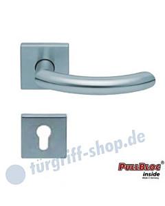 1085 (Golf) Halbgarnitur Quadratrosette PZ PullBloc Edelstahl matt oder poliert Scoop