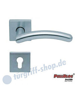 1084 (Prima) Halbgarnitur Quadratrosette PZ PullBloc Edelstahl matt oder poliert Scoop