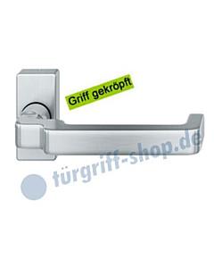06-1134 Türdrücker gekröpft auf Rahmenrosette Edelstahl oder Bronze FSB - Objekt
