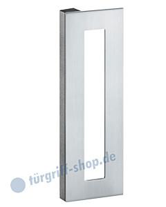 Stossgriff 61-6190 eckig geschlossen Edelstahl matt FSB S-Flat-Serie