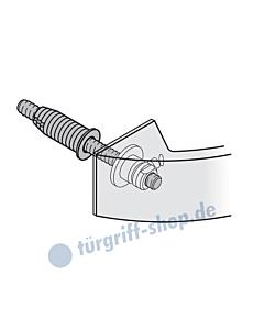 Befest.-Set für FSB Stossgriff oval | 05-0580 | einseitig unsichtbar MHK-Tür