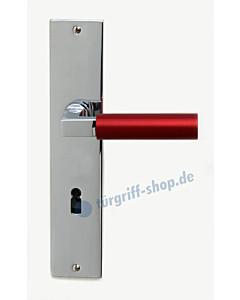 Bauhaus S Langschildgarnitur Chrom/Metallic Rot von Jatec