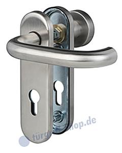 Kurzschild Paula Feuerschutzgarnitur BK4 Edelstahl matt Südmetall