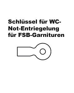 FSB 34-3464 Schlüssel für WC-Notentriegelungen
