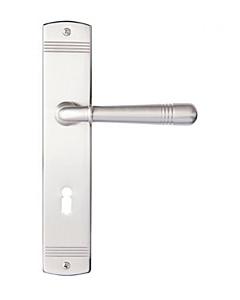 Avellino Langschildgarnitur Nickel matt von Griffwelt