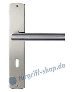 Ferrara Langschildgarnitur Nickel matt/Edelstahl matt Griffwelt