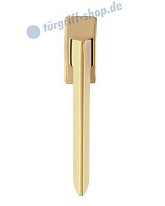 Torino Square Fenstergriff PVD Gold von Griffwelt