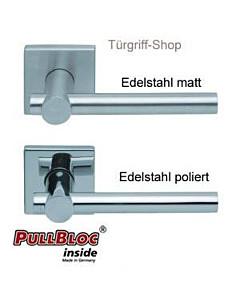 1001 (Maxima) FS Quadrat-Rosettengarnitur PullBloc Edelstahl Sco