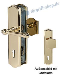 Sicura Mount Everest-LS/LS Schutzgarnitur Griffplatte/Drücker Robusta Gold von Südmetall
