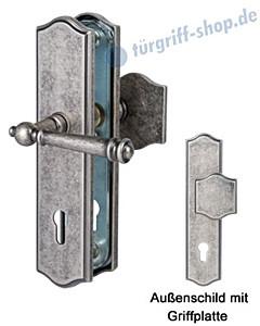 Sicura Mount Everest-LS/LS Schutzgarnitur Griffplatte/Drücker Antik Iron von Südmetall
