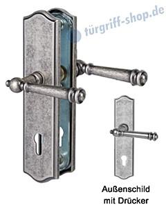 Sicura Mount Everest-LS/LS Schutzgarnitur Drücker/Drücker Antik Iron von Südmetall
