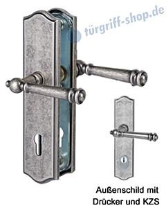 Sicura Mount Everest-LS/LS Schutzgarnitur Drücker/Drücker KZS Antik Iron von Südmetall