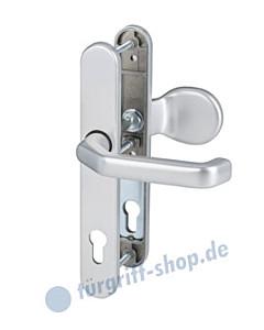 Berlin Schmalrahmengarnitur HT 92 mm Griffplatte/Drücker in 6 Farben Südmetall