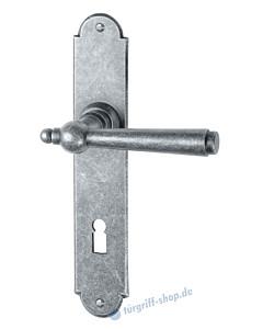 099 Langschildgarnitur antik grau thermopatiniert von Halcö