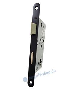 Objektschloß Buntbart 8/72 mit Schlüssel mit Metallfalle und Edelstahl-Stulp schwarz matt von SSF