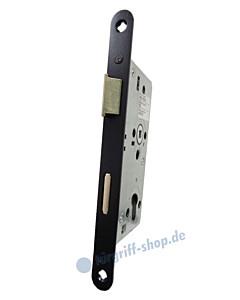 Objektschloß Profilzylinder 8/72 mit Metallfalle und Edelstahl-Stulp schwarz matt von SSF