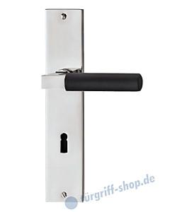 Bauhaus S Langschildgarnitur Chrom/Ebenholz von Jatec