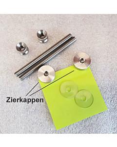 Stossgriff-Befestigung 111906 einseitig durchgehend Befestigung mit Zierkappe für Edelstahl-Stossgriff von Spitzer auf MHK-Tür
