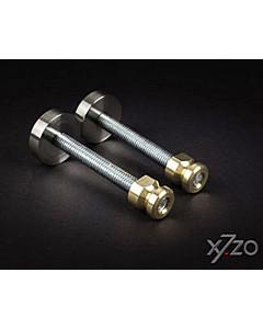 Befestigungsset G3 einseitig sichtbar für Stossgriffe von x7zo auf Metall-/Holz-/Kunststofftür
