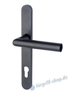 Berlin - LS Schmalrahmen-Halbgarnitur für Haustüren PZ 92 mm Schwarzstahl-Optik von Südmetall