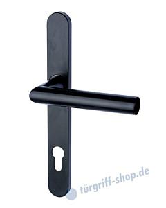 Berlin - LS Schmalrahmen-Halbgarnitur für Haustüren PZ 92 mm Schwarz matt von Südmetall