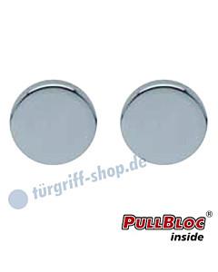 Schlüsselrosettenpaar Blind PullBloc rund Ø 54mm Edelstahl poliert Scoop