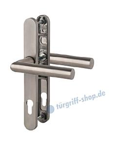 Bremen - LS Schmalrahmengarnitur für Haustüren PZ 92 mm Drücker/Drücker in Edelstahl matt Südmetall