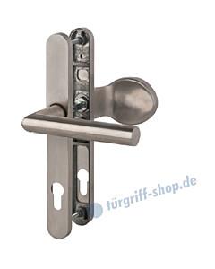 Bremen - LS Schmalrahmengarnitur für Haustüren PZ 92 mm Knopf/Drücker in Edelstahl matt Südmetall