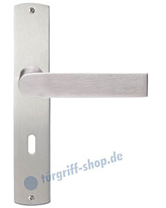 Cecina Langschildgarnitur Nickel matt/Edelstahl matt Griffwelt
