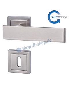 Centurio Square-R Rosettengarnitur TopSpeed BK3 Edelstahlfarbig-matt von Südmetall