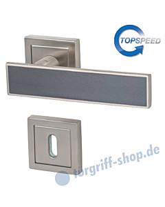 Centurio Square-R Rosettengarnitur TopSpeed BK3 Edelstahlfarbig-matt/Grau-matt von Südmetall