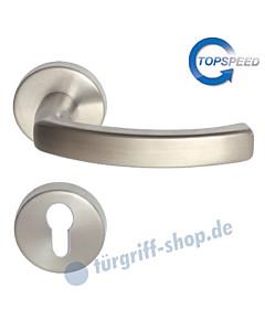 Cintre-R Rosetten-Halbgarnitur für Haustüren, Top Speed, Profilzylinder, 8 mm, GK4, Edelstahl-matt Südmetall