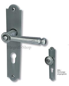 David II-LS Haustürgarnitur Knopf/Drücker 10/92 mm Stahl geschwärzt matt Südmetall