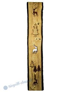 Dekobrett Walensee 1500 Holz angeflammt mit gerostetem Metall