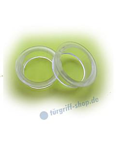 Drückerführung aus Kunststoff klar (2erPack) Ø 16 auf 19,5 mm von Reguitti