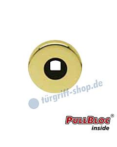 Drückerrosette einzeln PullBloc rund Ø 55mm Messing-poliert PVD Scoop