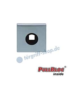 Drückerrosette einzeln PullBloc quadratisch 55x55mm Edelstahl-matt Scoop