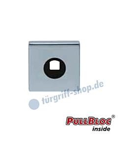 Drückerrosette einzeln PullBloc quadratisch 55x55mm Edelstahl-poliert Scoop