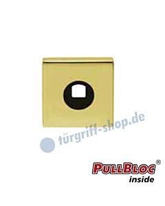 Drückerrosette einzeln PullBloc quadratisch 55x55mm Messing-poliert PVD Scoop