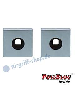 Drückerrosettenpaar PullBloc quadratisch 55x55mm Edelstahl-matt Scoop