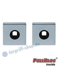 Drückerrosettenpaar PullBloc quadratisch 55x55mm Edelstahl-poliert Scoop