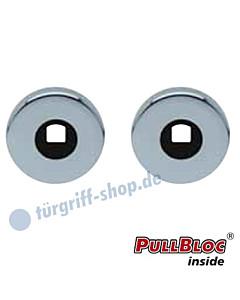 Drückerrosettenpaar PullBloc rund Ø 54 mm Edelstahl-poliert Scoop