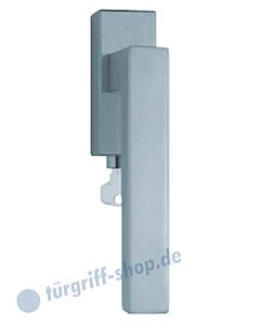 1002 (Quadra II) Fenstergriff abschließbar, eckige Olive, Edelstahl o. PVD Messing-poliert Scoop
