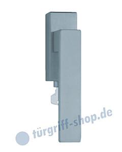 1005 (Quadra) Fenstergriff abschließbar, eckige Olive, Edelstahl oder PVD Messing-poliert Scoop