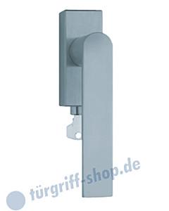 1008 (Semi) Fenstergriff abschließbar, eckige Olive, Edelstahl o. PVD Messing-poliert Scoop